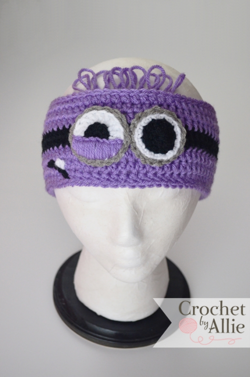 Purple Minion Headband Custom Crochet Hats And Accessories
