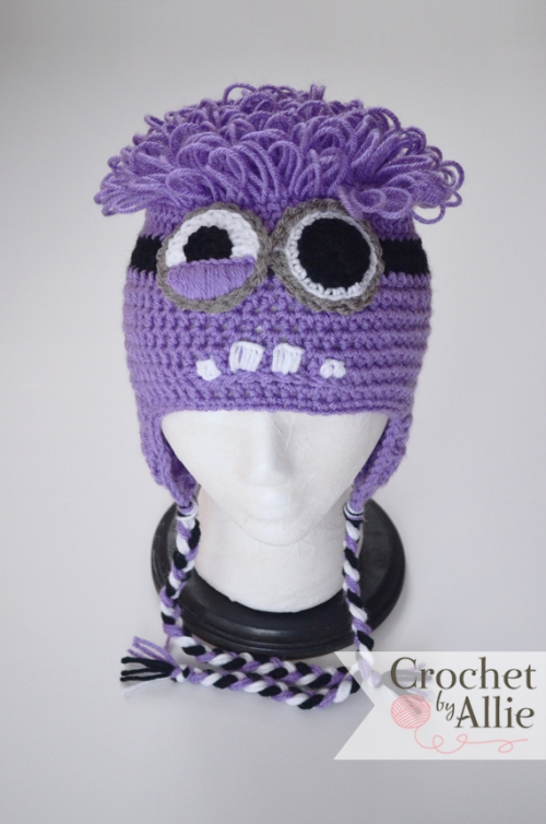 Purple Minion Custom Crochet Hats And Accessories