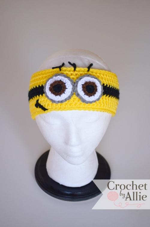New Product Yellow Minion Headband Custom Crochet Hats And